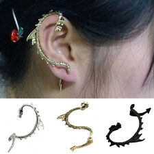 Women's Vintange Gothic Punk Dragon Ear Cuff Stud Earring Jewelry Charms Solid