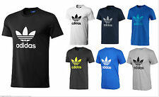 Adidas Originals Classic Trefoil Logo Graphic Tee T-Shirt Cotton Crew Neck
