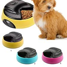 Pet Cat Dog Automatic Timing Programmable Food Dispenser 4 Separate Portions