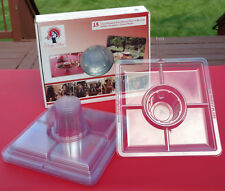 The Party Plates w/Cup Holder, Partitions, & Utensil Holder - 15 Plates Per Box