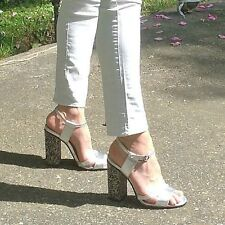 ZARA Woman BNWT Authentic Leather Sandals With Diamante 1380/301 RRP £79.99