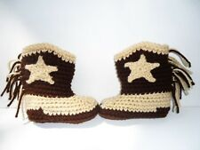Cowboy Boots Booties Baby Country Western Handmade Crochet Assorted Sizes USA
