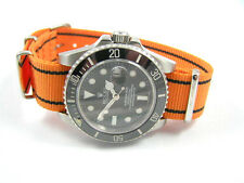 ORANGE NATO®  WATCH STRAP FOR ROLEX  SUBMARINER YACHTMASTER DAYTONA GMT WATCH