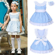2PCS Girl Flower Dress and Headband Set Formal Party Wedding Pageant Communion