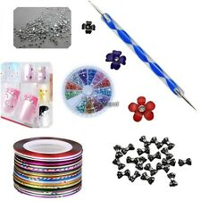 Nail Art Tips Brush Pen Acrylic Dotting Drawing Painting Liner Rhinestone WT8804