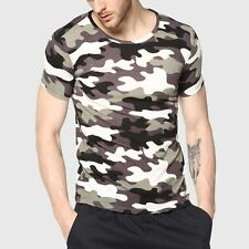 Men Camouflage T-Shirt Camo Male Army Military T Shirt