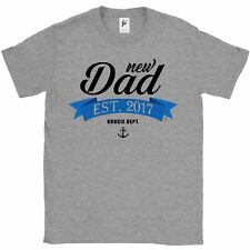 New Dad Established 2017 Rookie Dad To Be Pregnant Wife Mens T-Shirt