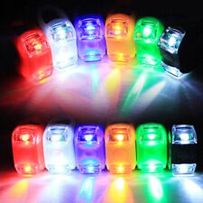 Silicone LED Super Bright Safety Bike Bicycle Frog Head Front Rear Wheel Lights