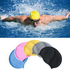 Waterproof Flexible Silicone Swimming Cap Unisex Adult Men/Women Elasticity Hat