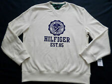 TOMMY HILFIGER SWEATER MENS SIZE XL CREWNECK LONG SLEEVE WHITE COLOR NWT
