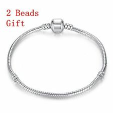 Beads Fashion Snake Chain Silver gold Plated Bracelet Bangle Charm