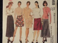 McCALLS 2368 MS/Wmns 2-Hr Bias Skirts~4 lengths PATTERN 6-8-10-12/18-20-22 UC