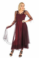 "Nataya  ""Vivian"" True Romance Vintage Style Dress, CL-075 Ruby Sizes XS-3X"