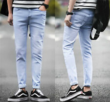 Fashion New Men's Straight Denim Slim Fit Pants Pencil Trousers Washed Jeans *05