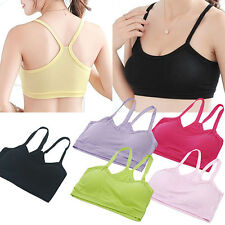 Women's Casual Sport Vest Yoga Bra Soft Y-Shape Strap Crop Tops Underwear Ardent