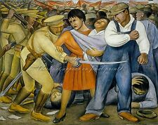 """DIEGO RIVERA Painting Poster or Canvas Print """"The Uprising"""""""