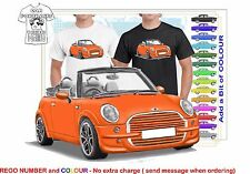 CLASSIC 2006 MINI COOPER S CONVERTIBLE ILLUSTRATED T-SHIRT MUSCLE RETRO  CAR