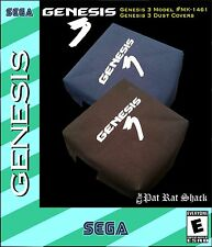 Sega Genesis model 3 system canvas dust covers