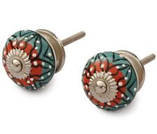 SouvNear Set of 2 Interior Round Knobs and Pulls for Cabinet / Girls Dresser / K
