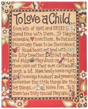 Glory Haus To Love a Child Table Top Canvas Art, 23cm by 18cm. Best Price