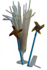 225x Stripe Colour Party Drinking Straws with 6 Novelty Windmill Drinking Straws