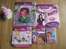 Dora the Explorer Birthday Party Supplies Banner Kit Swirl Decoation Loot Bags
