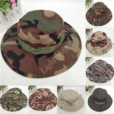 New Men Army Camo Hunting Fishing Hiking Outdoor Caps Bucket Hat Boonie Sun Hats