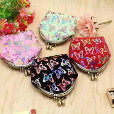 Women Gilding Butterfly Coin Purse Mini Canvas Wallet Card Holder Bag Clever