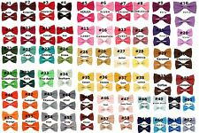 Choose (1) Toddler 2T - 4T Clip On Cotton Bow Tie ~ Many Colors 2T 3T 4T Bowtie