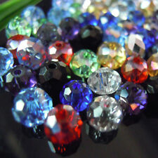 Beads Glass Crystal Loose Austria Faceted 4x6mm Spacer Rondelle Bicone 100pcs