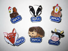 """RSPCA CHARITY pin badges 6 Animals """"Paws to Support"""""""