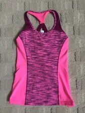 IVIVVA by Lululemon Pink with Purple Stripes Girls Tank top, Size 12