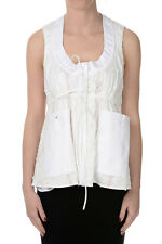 BALENCIAGA New Woman White Embroidered Top in Cotton and Silk Made in Italy NWT