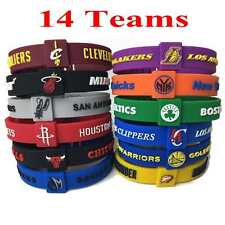 Silicon Rubber Basketball Star Bracelet 14 Teams Adjustable Wristband Strap Cuff