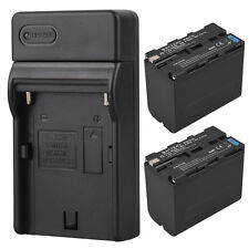 2 x 7800mah Camera Replacement Li-ion Battery + Charger For Sony NP-F960 NP-F970