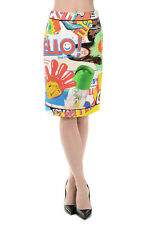 MOSCHINO COUTURE  New Woman Printed Cotton blend POWERPUFF Skirt Made in ITALY