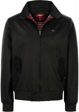 Giubbotto Giubbino Uomo Merc Of London Men's Harrington Jacket Tartan Black