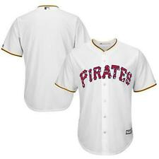 Pittsburgh Pirates Majestic $100 Stars and Stripes Cool Base white jersey