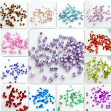 Wholesale Half Plated Bicone Faceted Crystal Glass Loose Spacer Beads 3mm4mm6mm