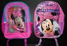Minnie Mouse Girls Full Sized BACKPACK School Bag Tote Pouch Disney