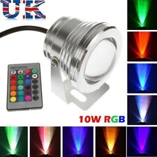 10W RGB LED Underwater Fountain Light Spotlight Aquarium Pond Pool Lamp DC 12V