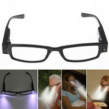 Eyeglasses Spectacal With LED Light Rimmed Night Reading Eye Glasses Elders Gift