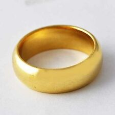 Mens Yellow Gold Filled ring lot smooth womens wedding rings size 6 7 8 9 10 11