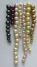 Large Glass Round Pearls-YOU PICK Assorted Colors & Sizes For Jewelry Making