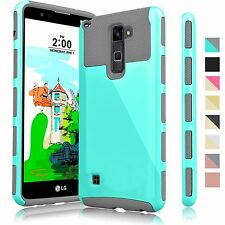 ShockProof Hybrid Dual Layer Armor Case Cover For LG G Stylo 2 / Stylus 2 & Plus
