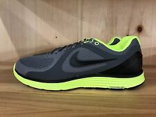 NIKE LUNARSWIFT COOL GREY VOLT BLACK LUNARLON RUNNING MENS SZ 11   386365-007