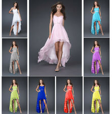 Chiffon Wedding Formal Evening Party Bridesmaid Ball Gown Prom Dress Long 1