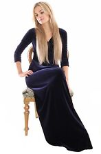 Long Elegant Evening Dress for Choir Musician Solo Artist Midnight Blue Velvet