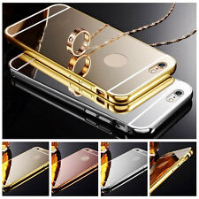 Luxury Mirror Aluminum Ultra-thin Case PC Back Cover for iPhone 7 6S 5S 5C Plus+