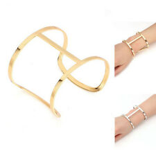 Fashion Womens Metal Bracelet Gold Silver Plated Geometric Charm Bangle Cuff